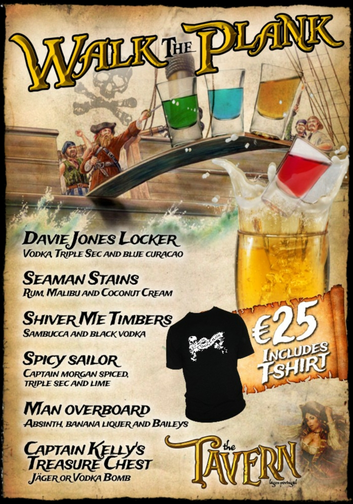 Walk The Plank - The Tavern Lagos portugal
